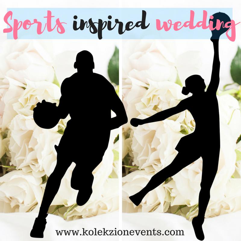 wedding theme, wedding inspired by sports, sports wedding, wedding planning,