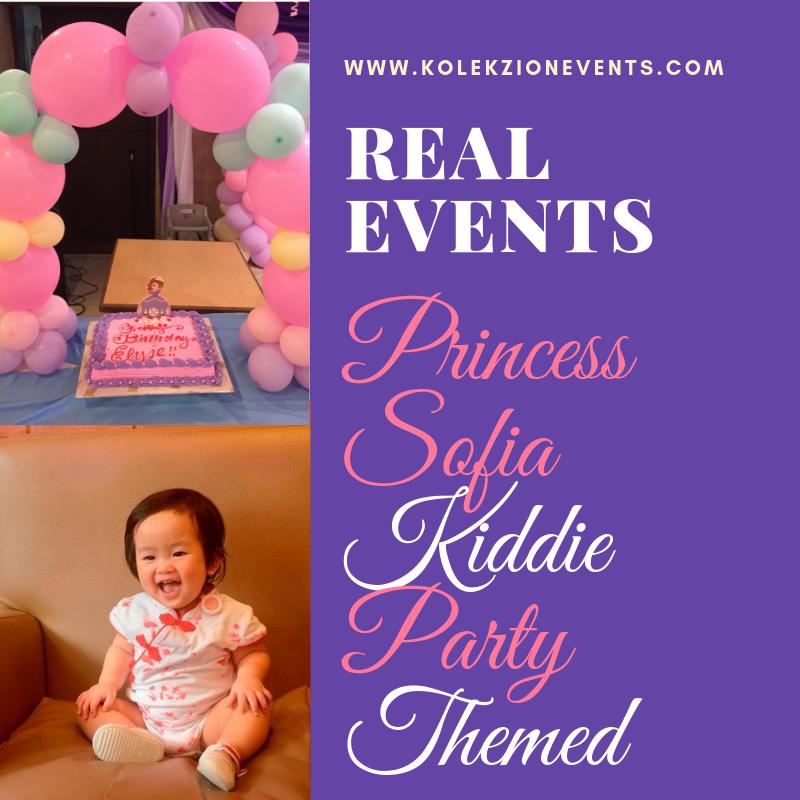 Princess Sofia kiddie themed party