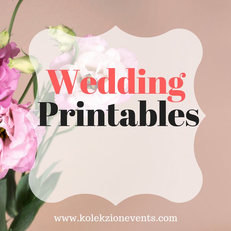 free wedding printables, wedding theme, diy free printables